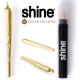 Blunt Shine Aur 24K Pre-rulat x1 + 2 Conuri Pre-rulate din Canepa