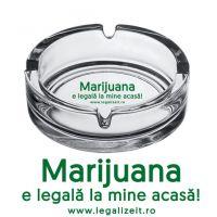 Scrumiera 'LEGALIZEIT' Marijuana e legala la mine acasa!