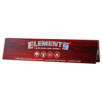 Foite 'Elements' Red King Size Slim