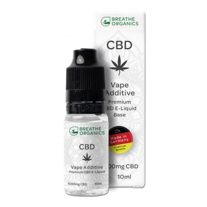 E-liquid CBD 10% Natural 'Breathe Organics' - 10ml