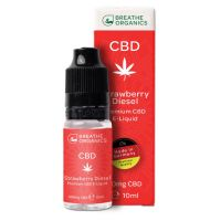 E-liquid CBD 1% Strawberry Diesel 'Breathe Organics' - 10ml