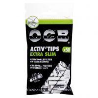 Filtre EXTRA SLIM 'OCB' Carbon Activat x 50buc Slim.