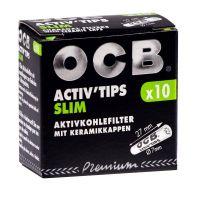 Filtre SLIM 'OCB' Carbon Activat x 10buc