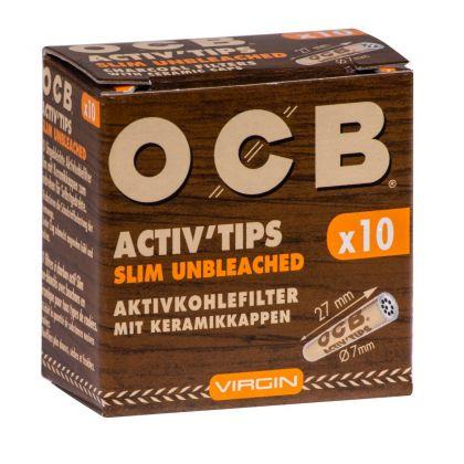 Filtre SLIM 'OCB' Carbon Activat Virgin x 10buc